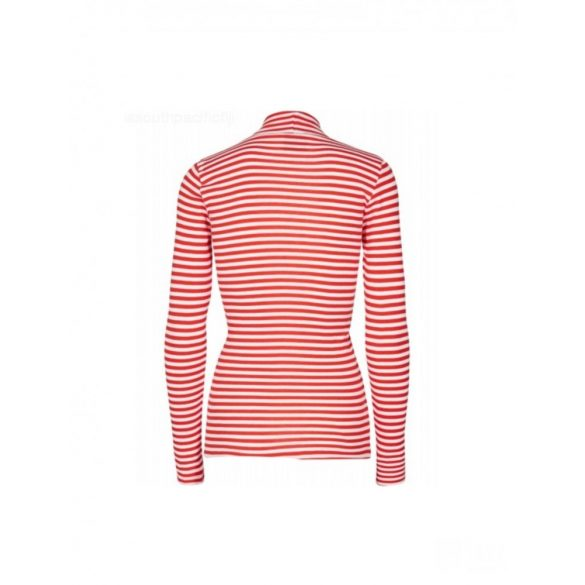 Mads Nørgaard ● Tuqqa 2*2 Soft Stripe ● piros és fehér csíkos hosszú ujjú póló