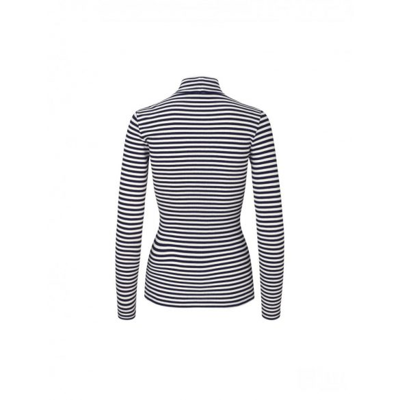 Mads Nørgaard ● Tuqqa 2*2 Soft Stripe ● fekete és fehér hosszú ujjú csíkos póló