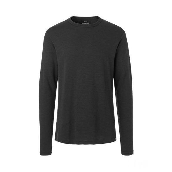 Mads Nørgaard ● Outdoor Wool ● antracit hosszú ujjú gyapjú póló