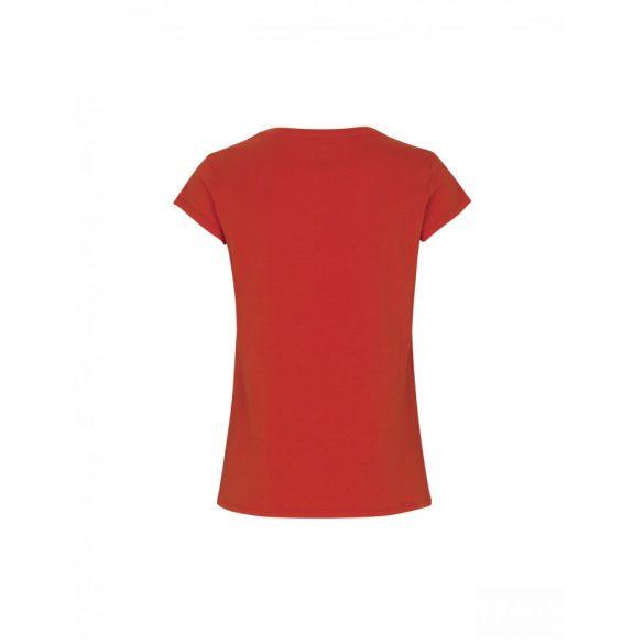 Mads  Nørgaard ● Organic Favorite Teasy ● piros rövid ujjú pamut póló