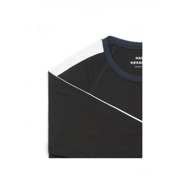 Mads Nørgaard ● Cotton Rib Stelt Insert ● fekete pamut pulóver