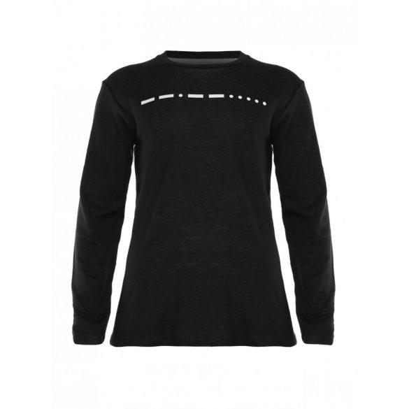 Mads Nørgaard ● Tukk Double Face ● melange fekete hosszú ujjú póló