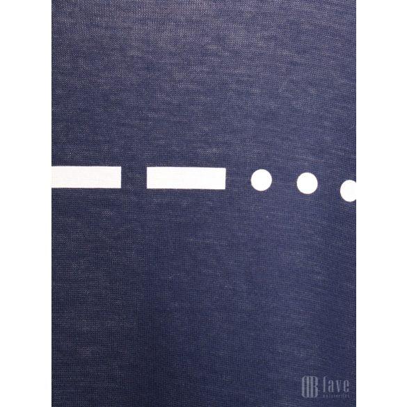 Mads Nørgaard ● Tukk Double Face ● melange kék hosszú ujjú póló