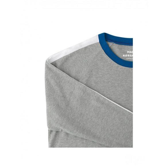 Mads Nørgaard ● Cotton Rib Mel Stelt Insert ● szürke melange pamut pulóver