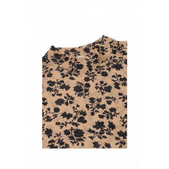 Mads  Nørgaard ● Flower Mesh Tamilla ● barna alapon fekete virágmintás magasnyakú felső