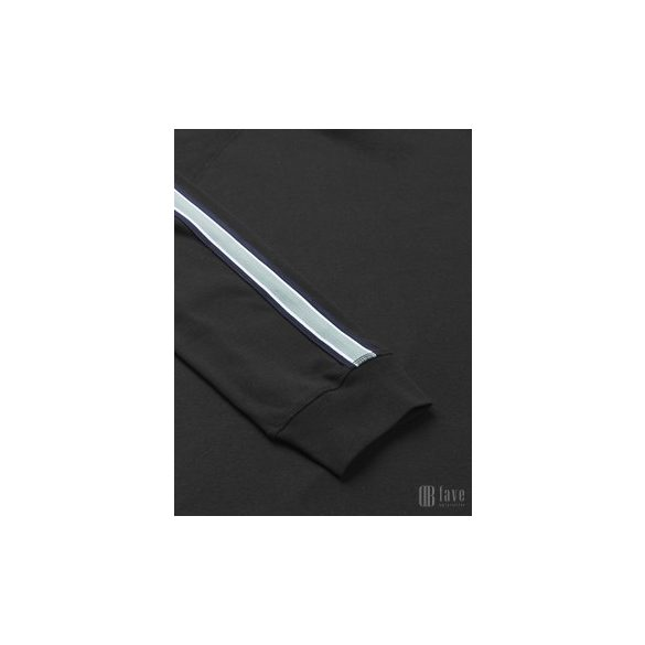 Mads Nørgaard ● Cotton Rib Stelt Tape ● fekete pamut pulóver