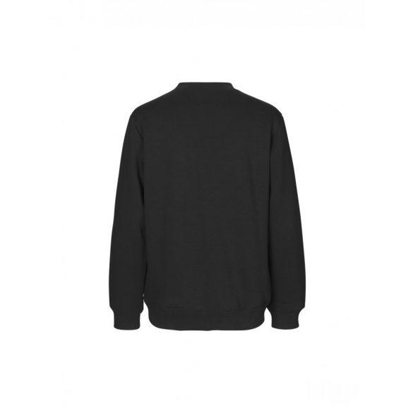 Mads  Nørgaard ● New Standard Crewneck Emb ● fekete pulóver