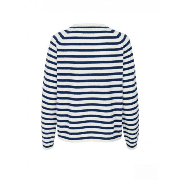 Mads Nørgaard ● Cosy stripe Kaxa ● ekrü és sötétkék csíkos pulóver