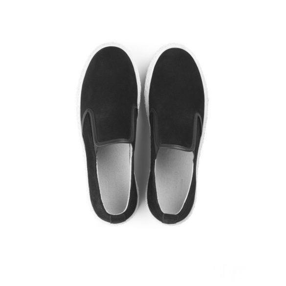 Mads Nørgaard ● Suede Loafer ● fekete hasított bőrcipő