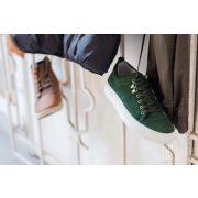 Mads  Nørgaard ● Suede Sneak Madson ● zöld hasítottbőr cipő