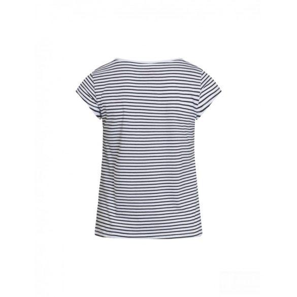 Mads  Nørgaard ● Organic Favorite Stripe Teasy ● fehér és fekete csíkos rövid ujjú pamut póló