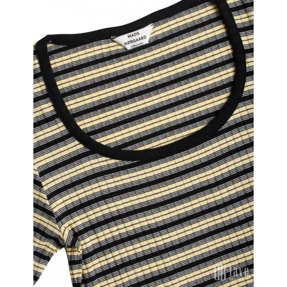 Mads Nørgaard ● Taura 5*5 ●  fekete csíkos rövid ujjú póló