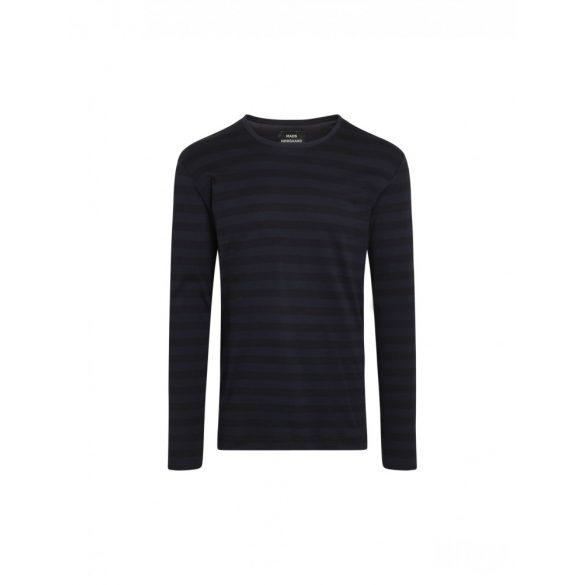 Mads Nørgaard ● Tobias Long Midi Rib ● sötétkék csíkos hosszú ujjú póló