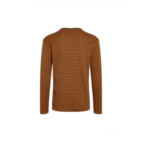 Mads Nørgaard ● Tobias Long Duo Rib ● narancssárga csíkos hosszú ujjú póló