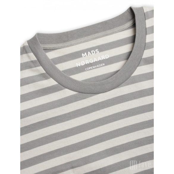 Mads Nørgaard ● Favorite Midi Thor ● szürke csíkos rövid ujjú póló
