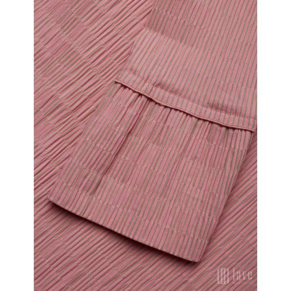 Mads  Nørgaard ● Crinkle Pop Duqina ● eperszínű csíkos hosszú ujjú ruha