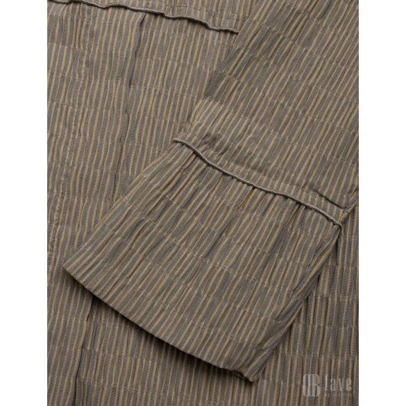 Mads  Nørgaard ● Crinkle Pop Duqina ● világosbarna csíkos hosszú ujjú ruha