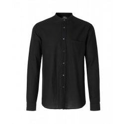 Mads Nørgaard ● Shibuya ● fekete mandarin galléros hosszú ujjú ing
