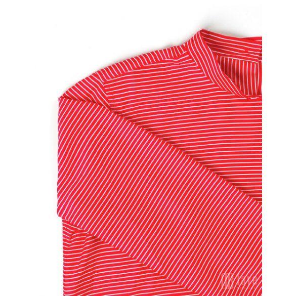 Mads Nørgaard ● Soft Satina Schinella  ● piros és ekrü hosszú ujjú blúz