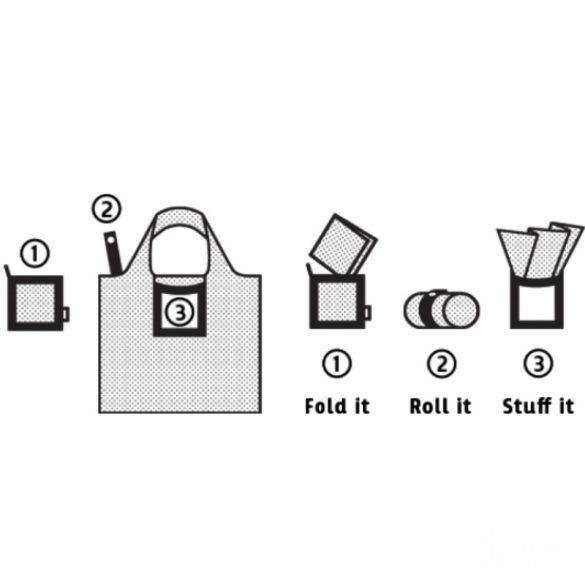 Briony ● Black marble ● újrahasznosított táska