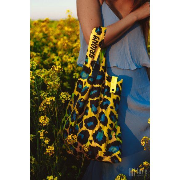 Briony ● Yellow leopard skin ● újrahasznosított táska
