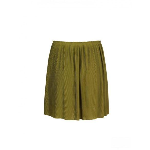 Samsøe & Samsøe ● Lei ● avokádózöld pliszírozott miniszoknya