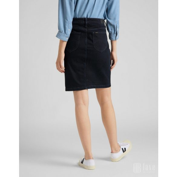 Lee ● Pencil Skirt ● sötétkék midi farmerszoknya