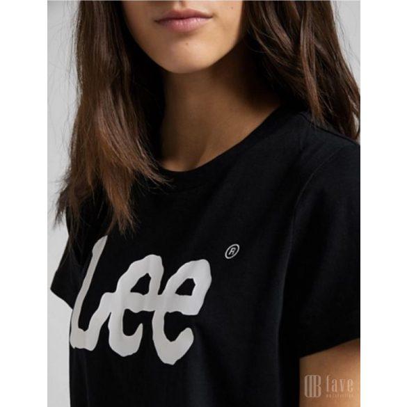 Lee ● Logo Tee ● fekete rövid ujjú póló