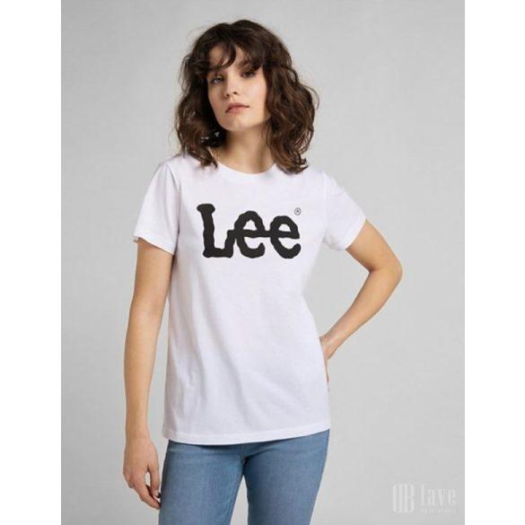 Lee ● Logo Tee ● fehér rövid ujjú póló