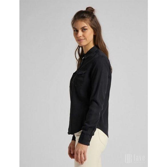 Lee ● Regular Western Shirt ● fekete hoszú ujjú ing