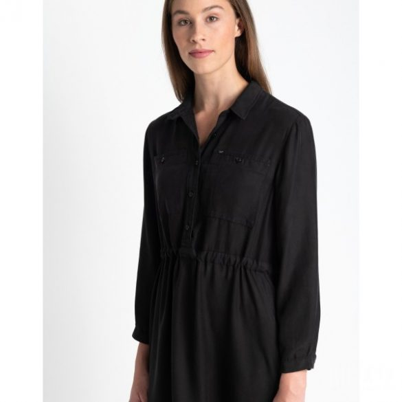 Lee ● Worker Drapey ● fekete galléros ruha