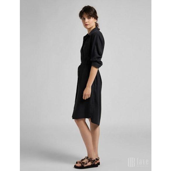Lee ● Long Denim Dress ● fekete galléros ruha