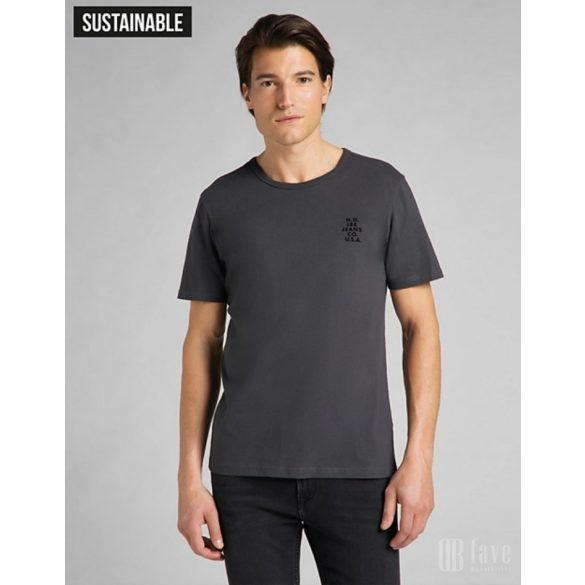 Lee ● SS Tonal Logo Tee ● fekete rövid ujjú póló