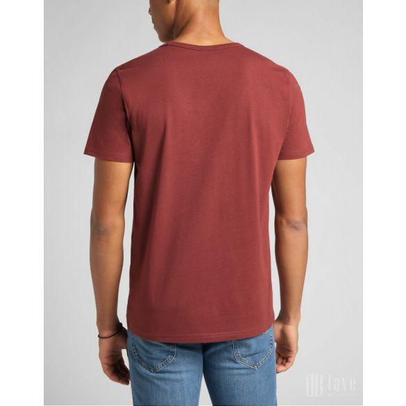 Lee ● SS Tonal Logo Tee ● bordó rövid ujjú póló