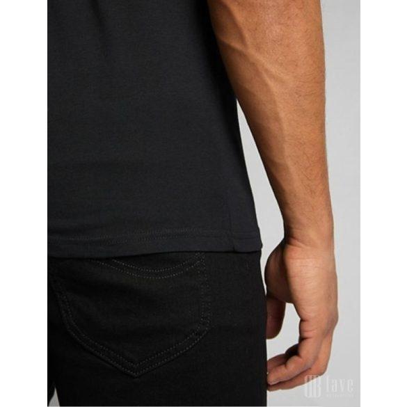 Lee ● Wobbly Logo Tee ● fekete rövid ujjú póló