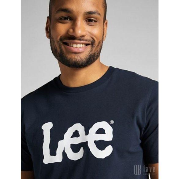 Lee ● Wobbly Logo Tee ● sötétkék rövid ujjú póló