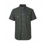 Samsøe & Samsøe ● Vento ND ● khakizöld színű csíkos rövid ujjú ing