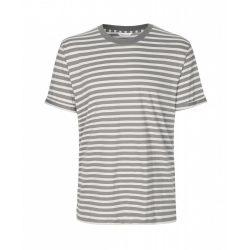 Samsøe & Samsøe ● Emmo stripe ● drapp szürke csíkos rövid ujjú póló