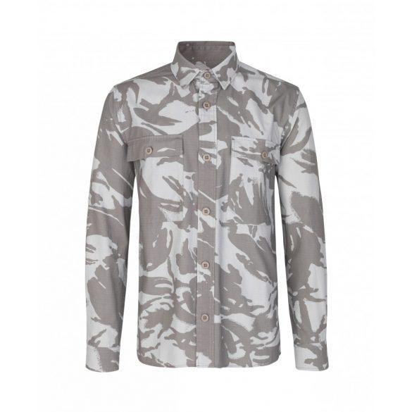 Samsøe & Samsøe ● Waltones overshirt aop ● szürkés drapp mintás kabáting