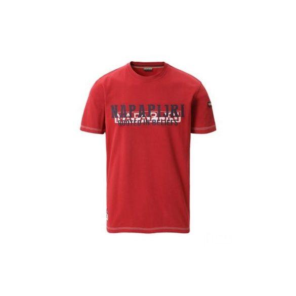 Napapijri ● Sardara ● piros feliratos rövid ujjú póló