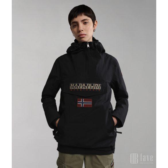 Napapijri ● Rainforest W Sum Pocket ● fekete zsebes anorákdzseki