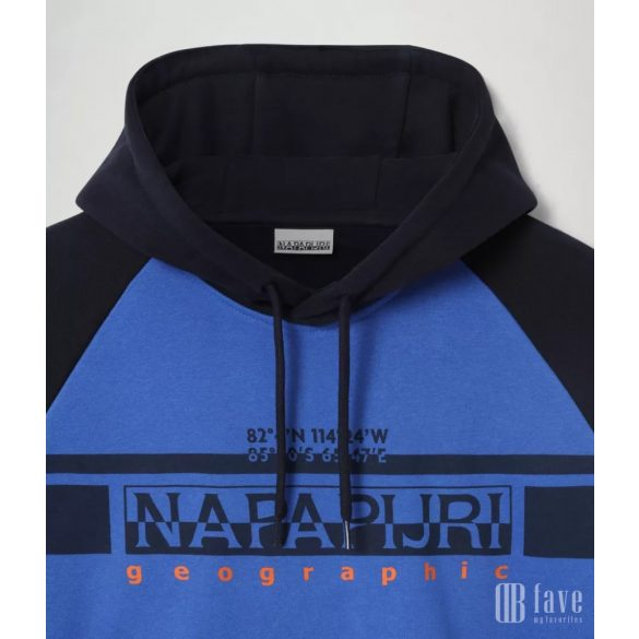 Napapijri ● Brilo ● kék kapucnis feliratos pulóver