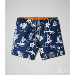 Napapijri ● Vail ● kék alapon hawaii mintás fürdősort