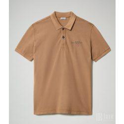 Napapijri ● Elbas ● barna rövid ujjú piké póló
