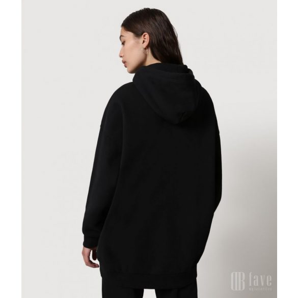 Napapijri ● B-Box ● fekete hosszított kapucnis pulóver