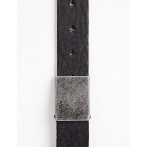 Wrangler ● Plate Buckle Belt ● fekete bőröv