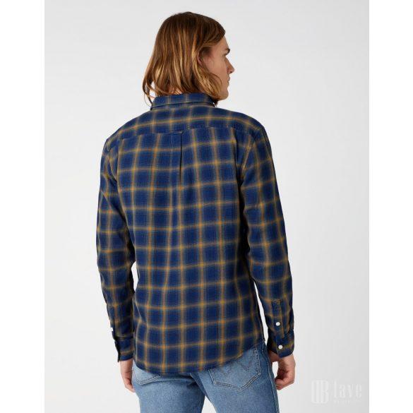 Wrangler ● LS 1PKT Shirt ● kék kockás hosszú ujjú ing