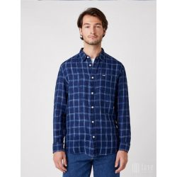Wrangler ● LS 1PKT Shirt ● sötétkék kockás hosszú ujjú ing