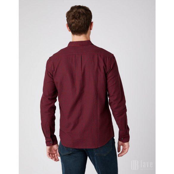 Wrangler ● LS 1PKT Shirt ● piros kockás hosszú ujjú ing