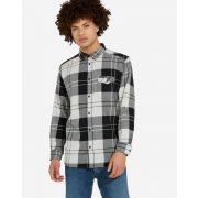 Wrangler ● LS 1PKT Flap Shirt ● fekete kockás hosszú ujjú ing